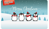 Merry Christmas Penguins One4all Gift Card