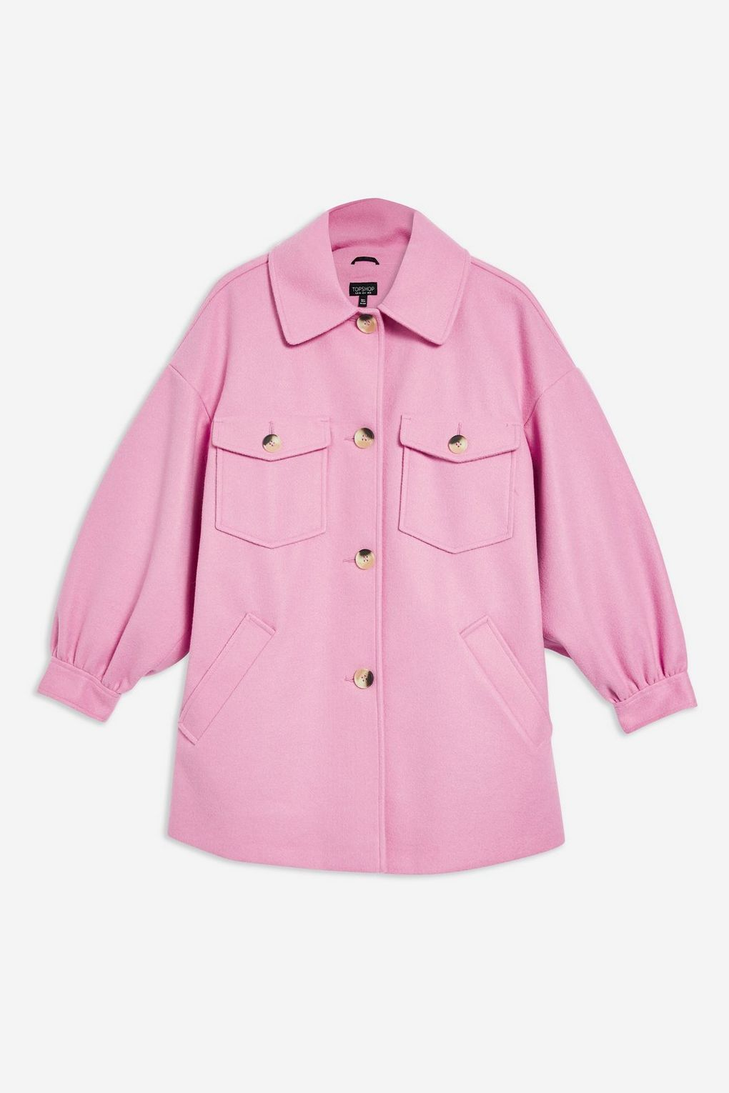Button Front Shacket