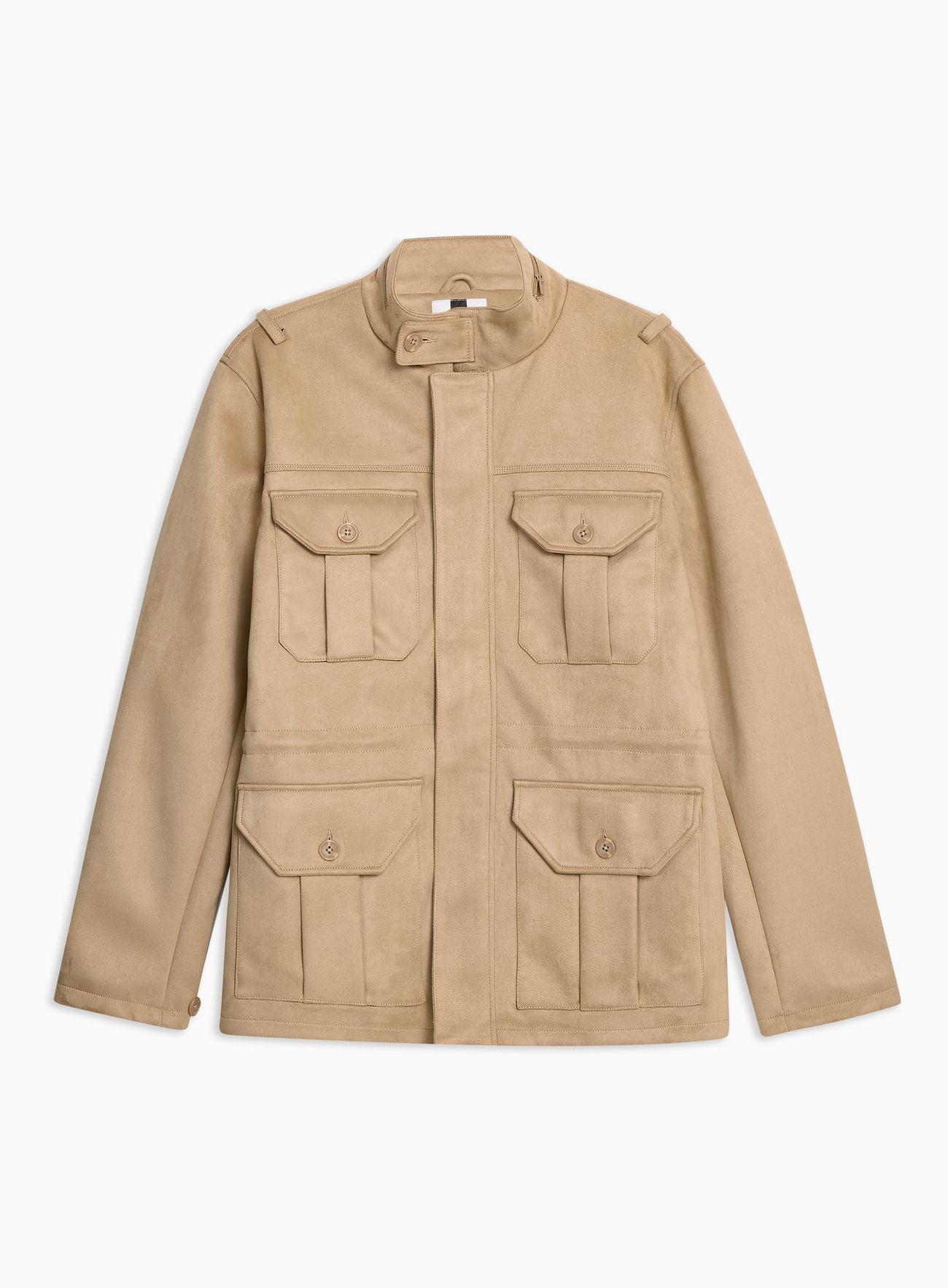 Faux Suede Field Jacket