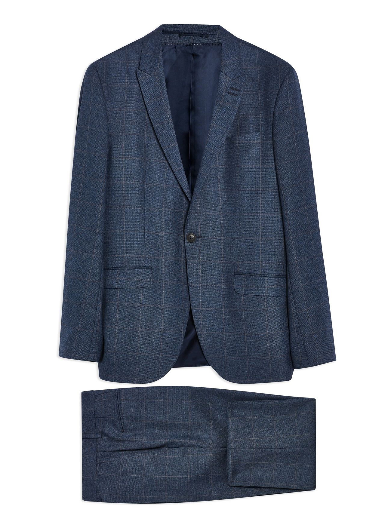 Navy Windowpane Suit