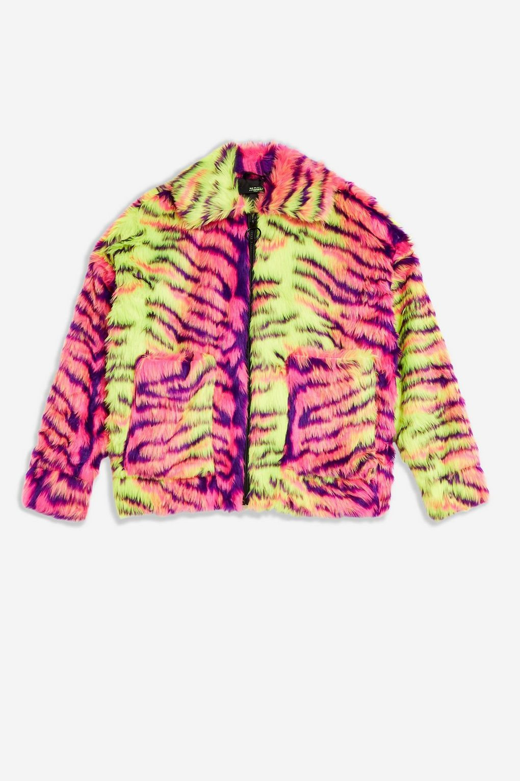 Neon Tiger Faux Fur By Jaded London