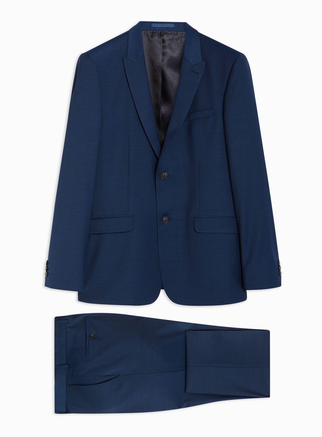 Premium Navy Check Suit