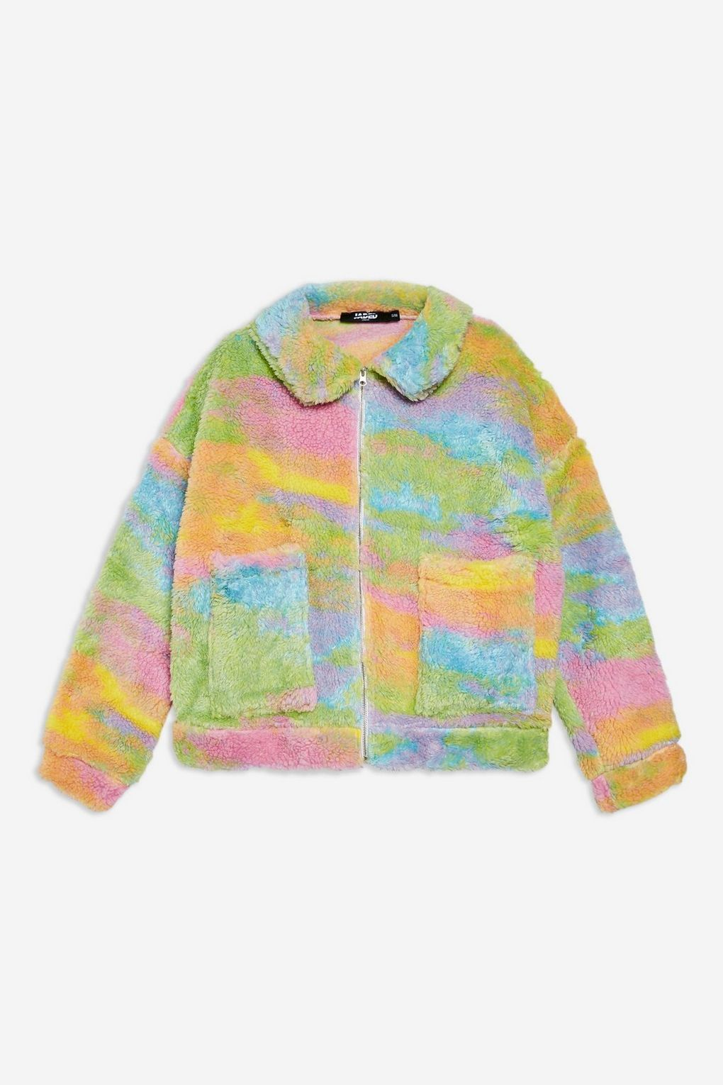 Rainbow Fleece Jacket By Jaded London
