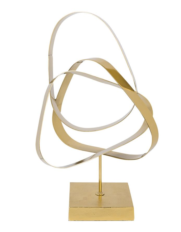 A By Amara Entwined Loops Gold Ornament