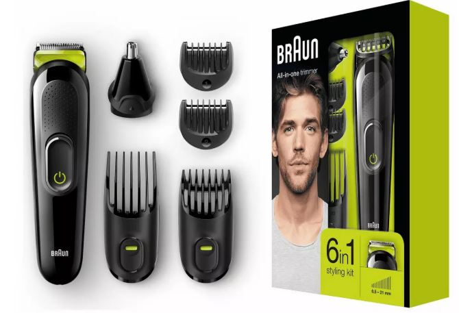 Braun 6 in 1 Beard Trimmer and Hair Clipper Kit, £19.99 from Argos