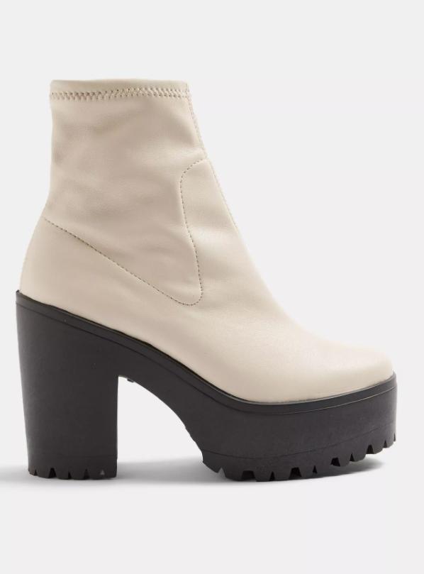 BO Ecru Chunky High Boots