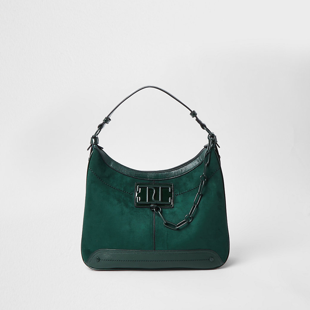 Green RI Chain Detail Slouch Handbag, £38.00 from River Island
