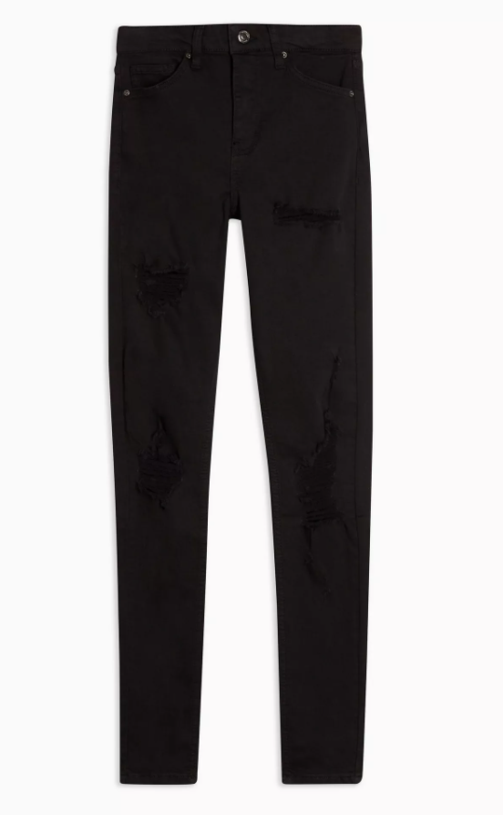 Black Super Rip Jamie Skinny Jeans