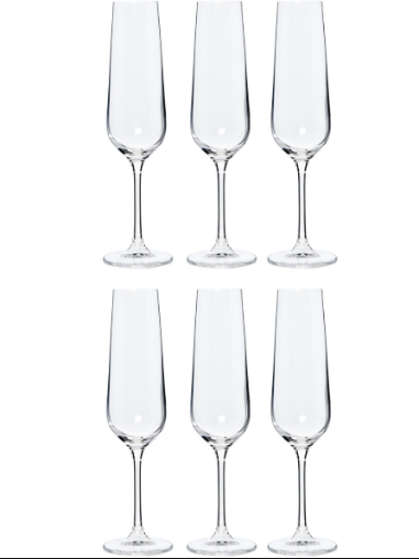 Six Pack Chic Flute Glasses, £16.99 from TK Maxx
