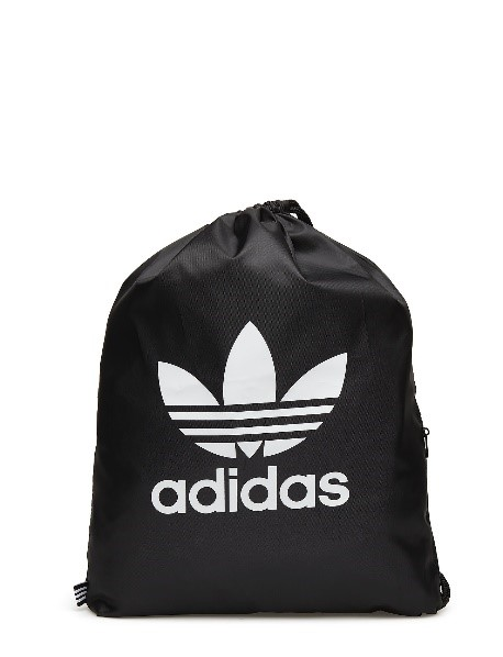 Adidas black & white gymsack trefoil, £13 from Schuh
