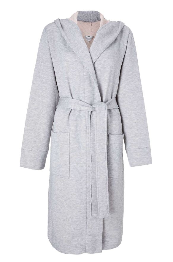 John Lewis & Partners Esme Quilted Hooded Robe