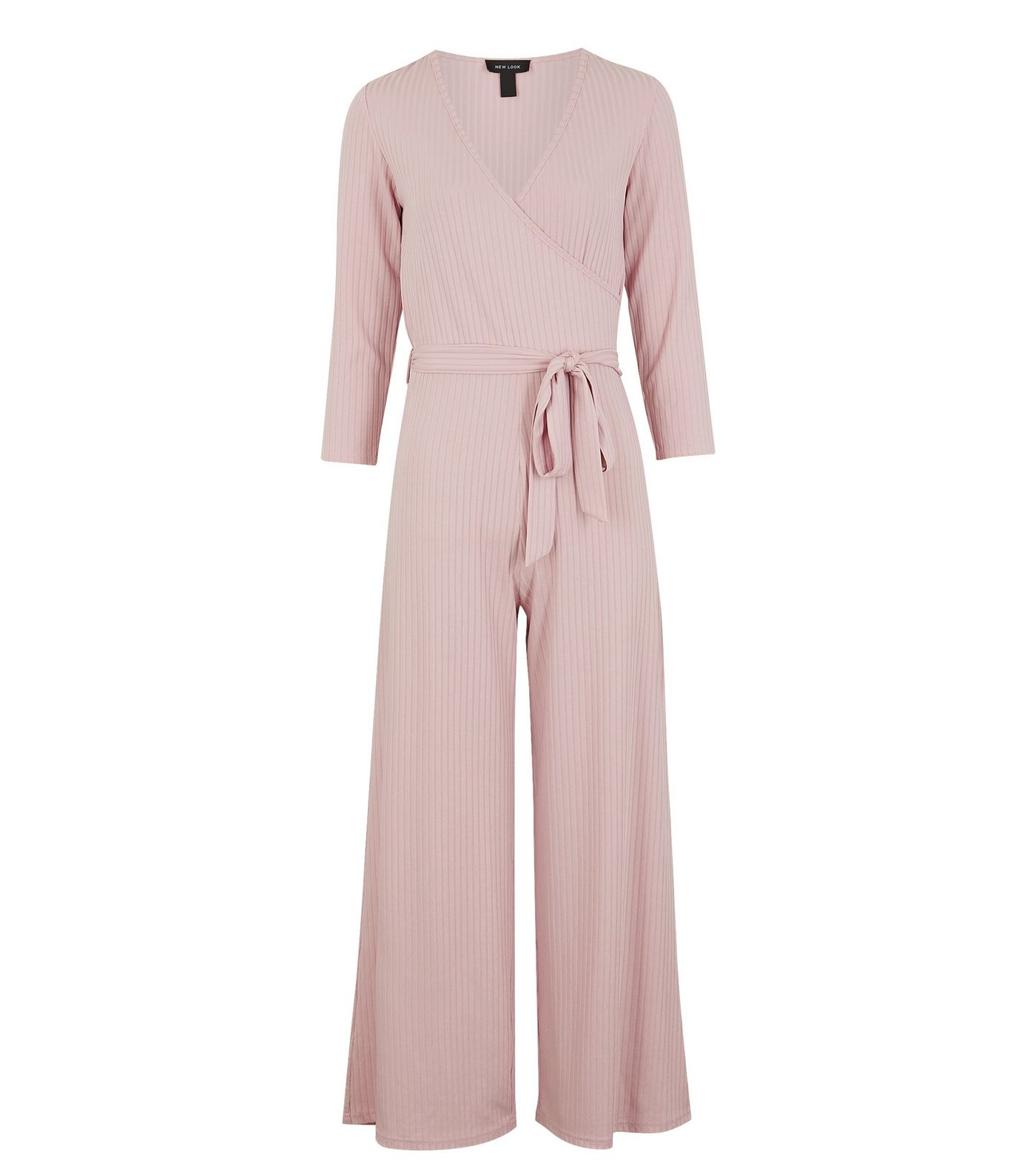 Pale Pink Jersey Wrap Wide Leg Jumpsuit, £25.99 from New Look