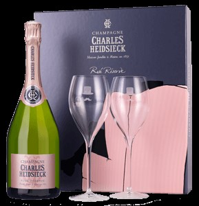 Champagne Charles Heidsieck Gift Set Rose Reserve and Flutes, £78 from Laithwaites
