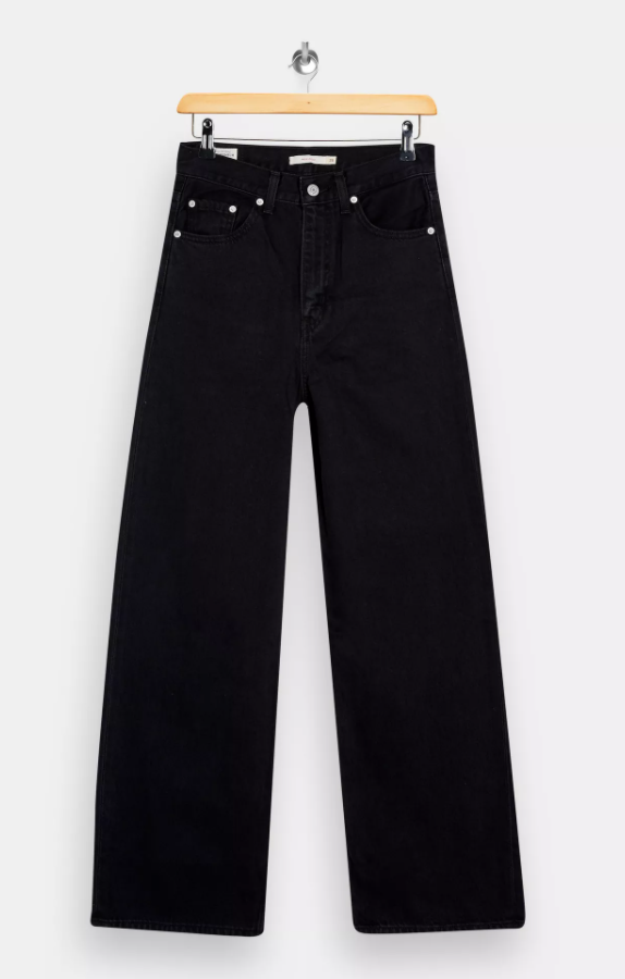 Levis Black High Loose Jeans
