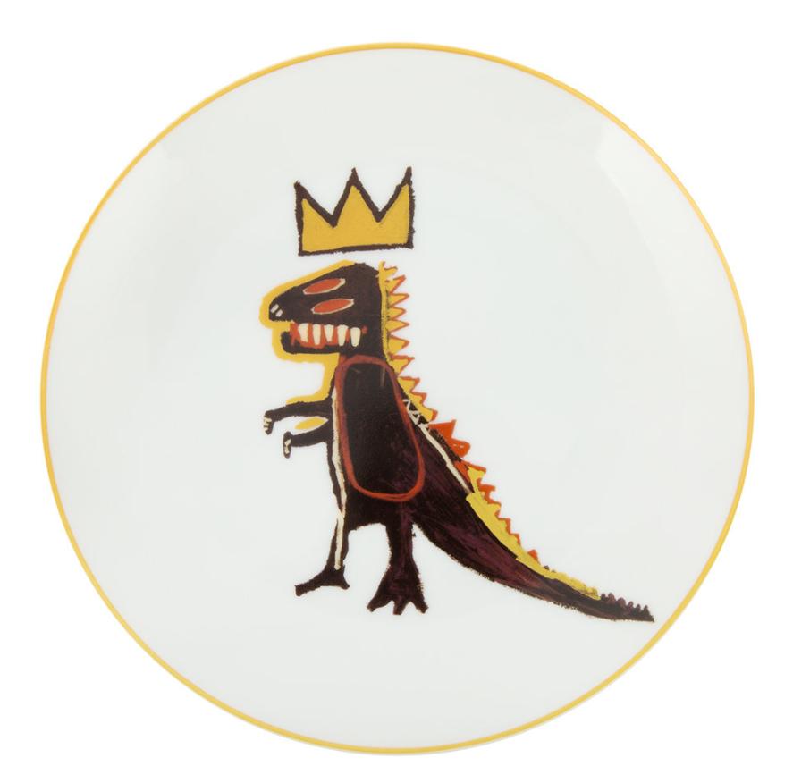 Ligne Blanche Jean-Michel Basquait 'Gold Dragon' Plate