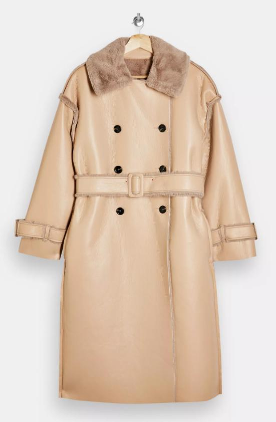 Mink Reversible Faux Fur Coat