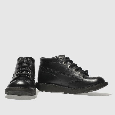 Kickers black kick hi boots youth, £62 from Schuh