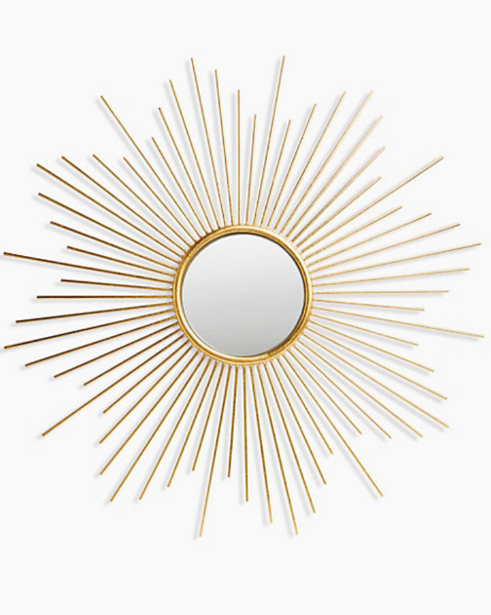 Sunburst Metal Round Mirror