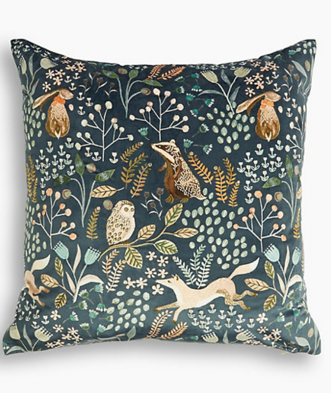Woodland Embroidered Cushion
