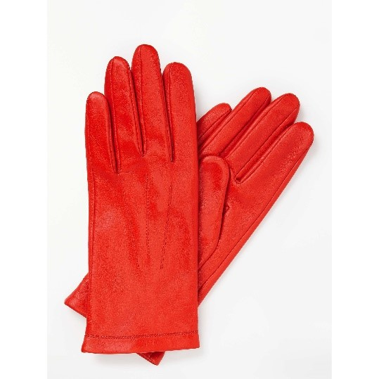 Bright Orange Fleece Lined Leather Gloves, £12.50 from John Lewis
