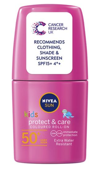 Nivea Kids Sun Cream Pink Roll-on Extra Water Resistant SPF50 50ml